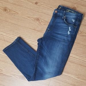7 For All Mankind - Cropped High Waist Jeans